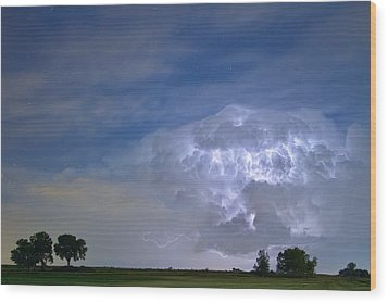 Riders On The Storm  Wood Print by James BO  Insogna