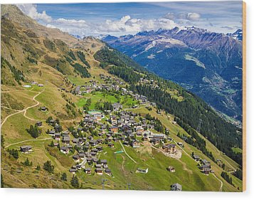 Riederalp Valais Swiss Alps Switzerland Europe Wood Print by Matthias Hauser
