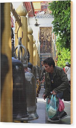 Ringing Of The Bells - Wat Phrathat Doi Suthep - Chiang Mai Thailand - 01131 Wood Print by DC Photographer