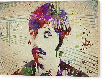Ringo Starr Wood Print by Aged Pixel