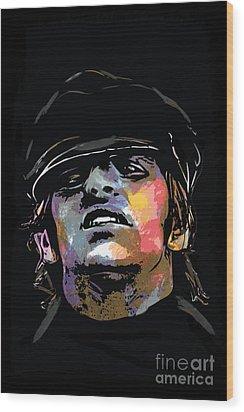 Ringo Starr Wood Print by Andrzej Szczerski