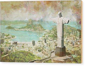 Rio De Janeiro Wood Print by Catf