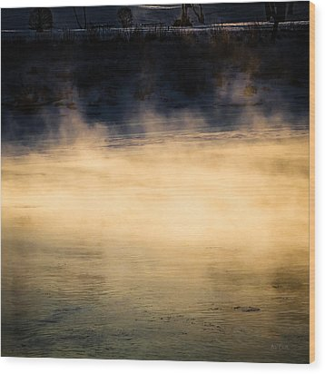 River Smoke Wood Print by Bob Orsillo