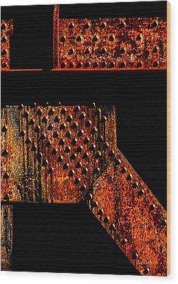 Rivets Number Two Wood Print by Bob Orsillo