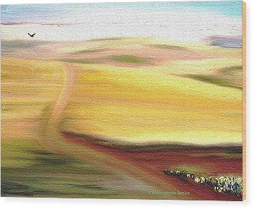 Road To Somewhere Wood Print by Lenore Senior