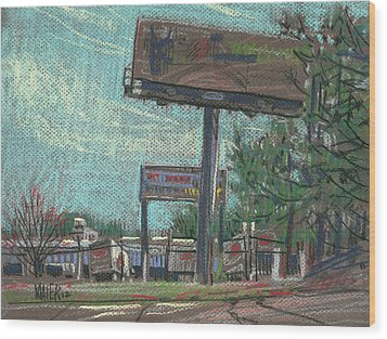 Roadside Billboards Wood Print by Donald Maier