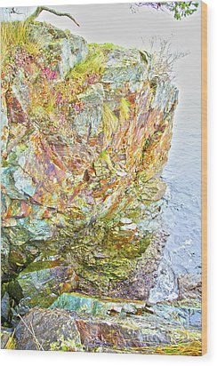 Rock Colour Wood Print by Graham Foulkes