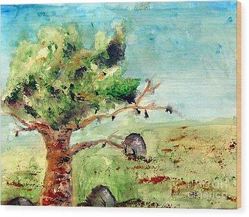 Rock Of Ages Wood Print by Ayasha Loya Aka Pari  Dominic