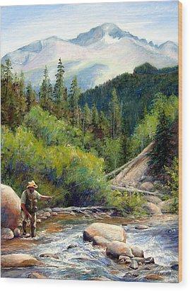 Rocky Mountain High Wood Print by Mary Giacomini