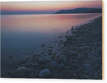 Rocky Sunset Wood Print by Ian Mitchell