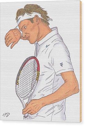 Roger Federer Wood Print by Steven White