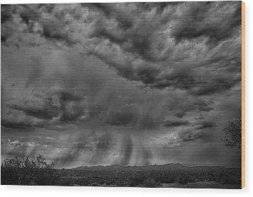 Roiling Sky Wood Print by Judi FitzPatrick