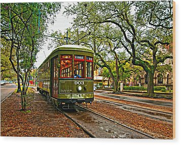 Rollin' Thru New Orleans Painted Wood Print by Steve Harrington