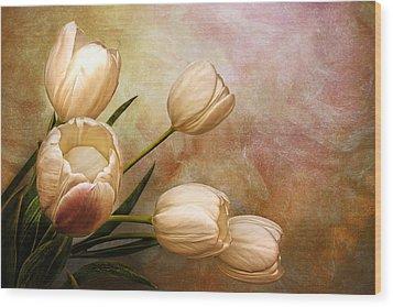 Romantic Spring Wood Print by Claudia Moeckel
