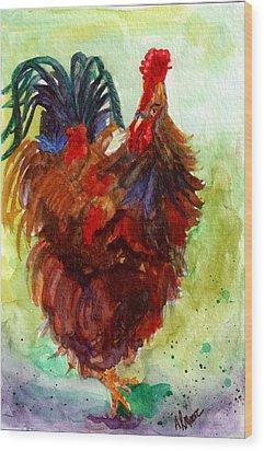 Roosta  Wood Print by Anderson R Moore