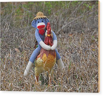 Rooster Rider Wood Print by Al Powell Photography USA