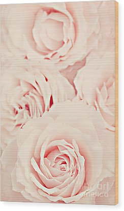 Roses Wood Print by Diana Kraleva