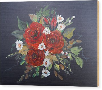 Roses Wood Print by Dorothy Maier