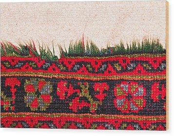 Rug Pattern Wood Print by Tom Gowanlock