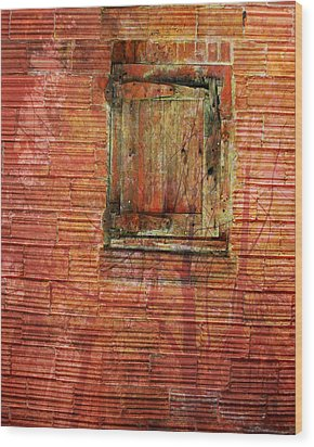 Rust Wall Wood Print by Lyn  Perry