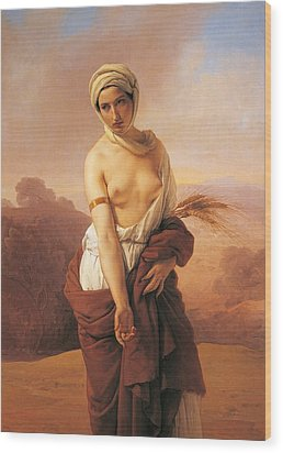 Ruth Wood Print by Francesco Hayez