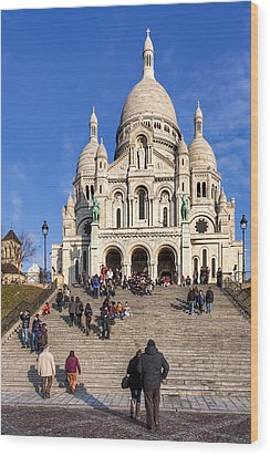 Sacre Coeur - Parisian Landmark Wood Print by Mark E Tisdale