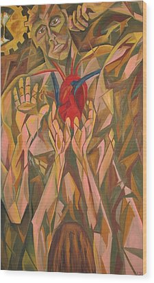 Sacred Heart And Thoughtful Mind Wood Print by Carter Gillis