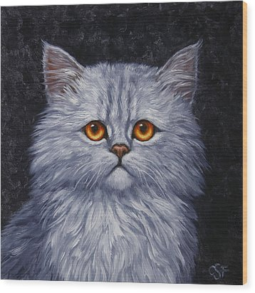 Sad Kitty Wood Print by Crista Forest