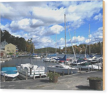 Sailboats On Sunapee Wood Print by Will Boutin Photos