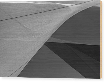 Sailcloth Abstract Number 9 Wood Print by Bob Orsillo