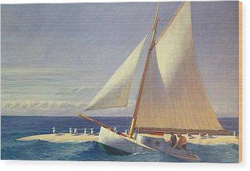 Sailing Boat Wood Print by Edward Hopper