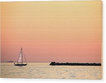 Sailing In Color Wood Print by Gary Heller