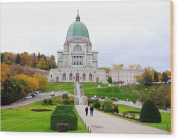 Saint Joseph Du Mont Royal Wood Print by Valentino Visentini