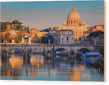 Saint Peters Basilica Wood Print by Inge Johnsson