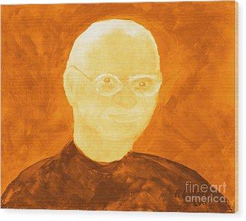 Saint Steven Paul Jobs 3 Wood Print by Richard W Linford