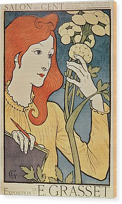 Salon Des Cent Wood Print by Eugene Grasset