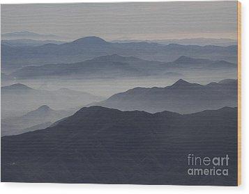 San Diego Hills In Fog And Haze Wood Print by Darleen Stry