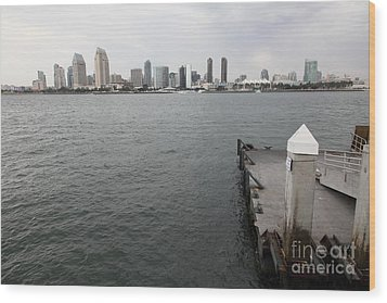 San Diego Skyline 5d24348 Wood Print by Wingsdomain Art and Photography