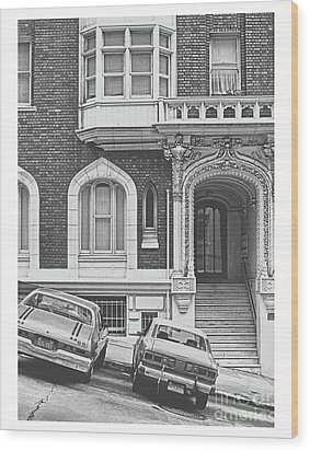 San Francisco 1981 Cars On A Slant Wood Print by ImagesAsArt Photos And Graphics