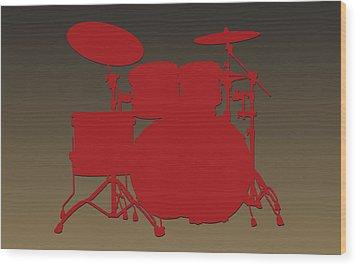 San Francisco 49ers Drum Set Wood Print by Joe Hamilton