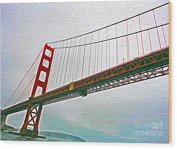San Francisco - Golden Gate Bridge - 01 Wood Print by Gregory Dyer