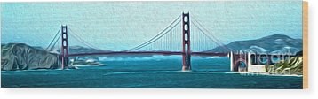 San Francisco - Golden Gate Bridge - 07 Wood Print by Gregory Dyer