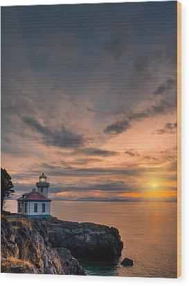 San Juan Sunset Wood Print by Dan Mihai