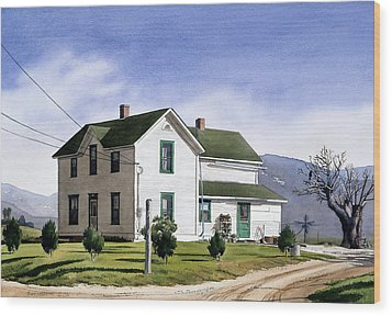 San Pasquale House Wood Print by Mary Helmreich