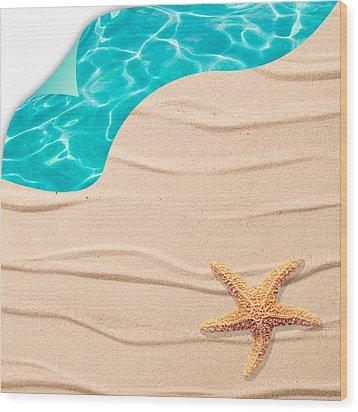 Sand Background Wood Print by Amanda Elwell