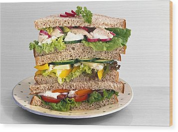 Sandwiches Wood Print by Science Photo Library