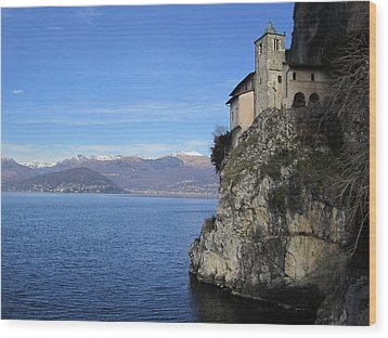Wood Print featuring the photograph Santa Caterina - Lago Maggiore by Travel Pics