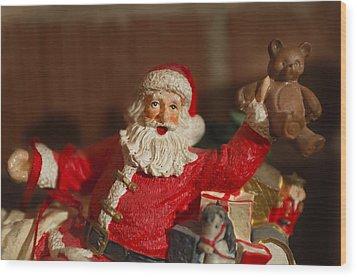 Santa Claus - Antique Ornament - 26 Wood Print by Jill Reger