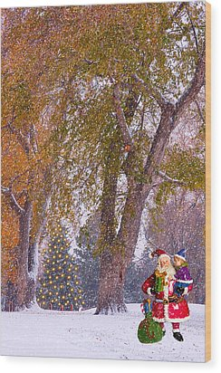 Santa Claus In The Snow Wood Print by James BO  Insogna
