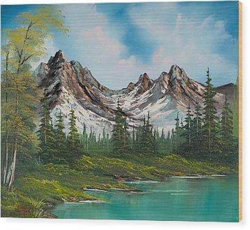 Sawtooth Saddle Wood Print by C Steele